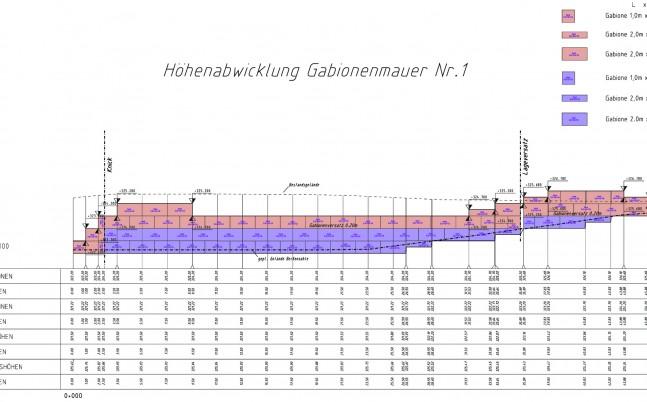 1145_Höhenabwicklung Gabionenwand Nr.1_ausschnitt