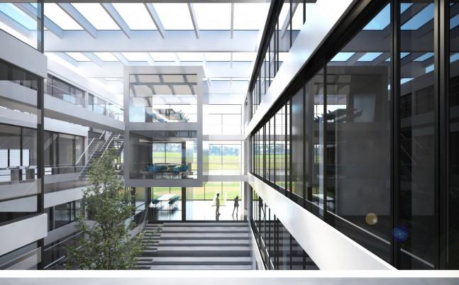 Neubau Forschungszentrum innen
