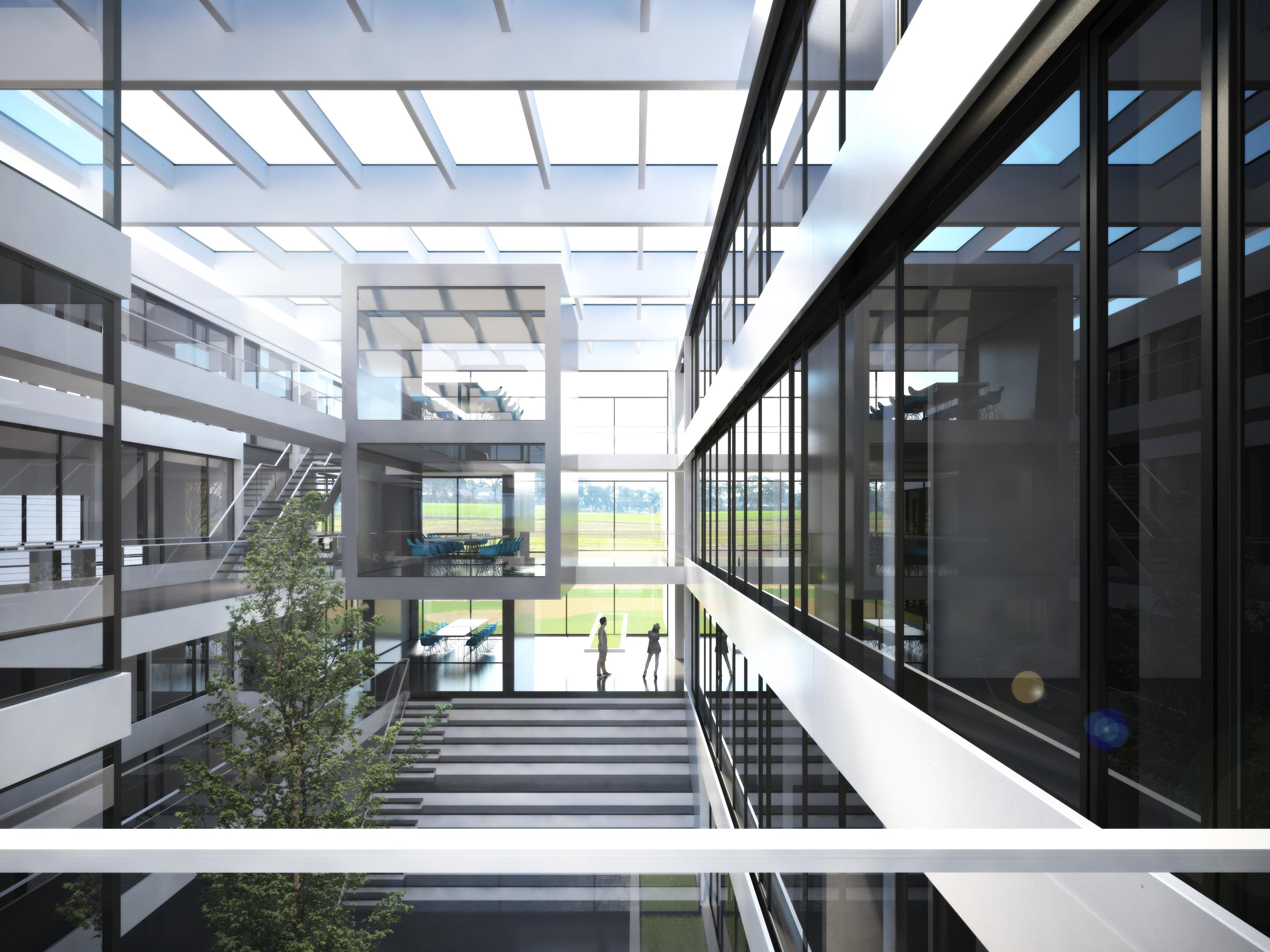 Neubau Forschungszentrum innen – KMB PLAN   WERK   STADT   GMBH